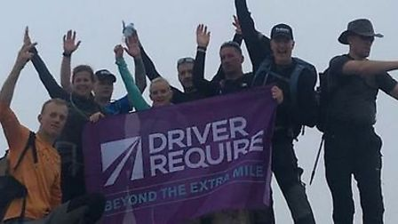 Celebrations at the top of Ben Nevis. Picture courtesy of Sarah Fowke