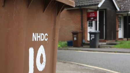 One of the North Hertfordshire brown bins at the centre of the issue. Picture: Danny Loo