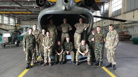 The 2065 Biggleswade Air Cadets' on a trip to RAF Odiham in 2016.