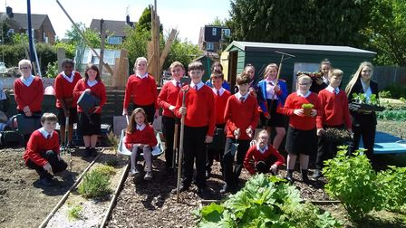 The Hitchin Youth Allotment team. Picture: Paul Dee