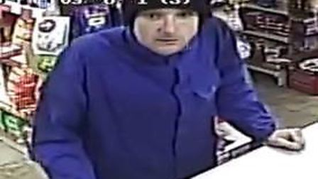 Police have released this CCTV image of a man they want to talk to about a burglary in Hitchin. Pict