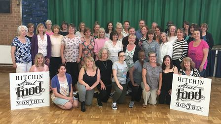 Hitchin's As One Community Choir will be singing at Street Food Monthly tonight. Picture: Matt Bean