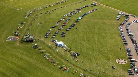 60 gyros gathered at Old Warden over the weekend, breaking last year's record. Picture; Ivor Liningt