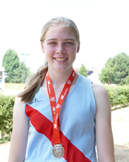 Leonie Brunning with her third place medal. Picture: Stuart Goodwin