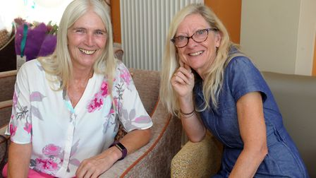 Sue Hardy and Deb Leedham, who volunteer at the Tabor Court flexicare scheme in Letchworth. Picture: