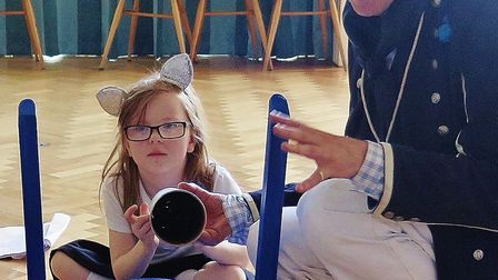 Children at the Garden City Academy learned all about Nelson's Navy at a history workshop. Picture:
