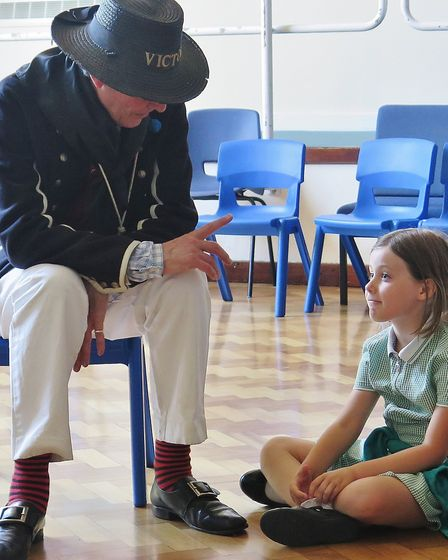 The Year 2 students were visited by a historian to tell them about the Battle of Trafalgar. Picture: