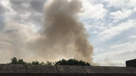Smoke coming from the fire south of Stevenage. Picture: Phill Robert