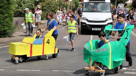 Thunderbirds-themed fundraisers at the 2018 Biggleswade Carnival parade. Picture: Andy Buckley