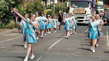 Shefford Majorettes in the 2018 Biggleswade Carnival parade. Picture: Andy Buckley
