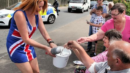 Fundraising during the 2018 Biggleswade Carnival parade. Picture: Andy Buckley
