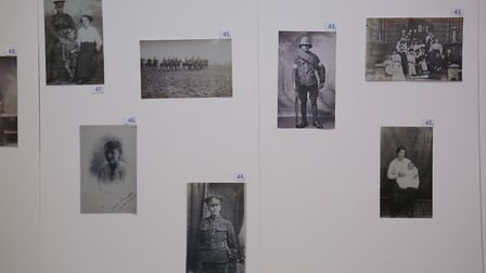 Photographs of unidentified individuals of the First World War in the British Schools' monitorial sc