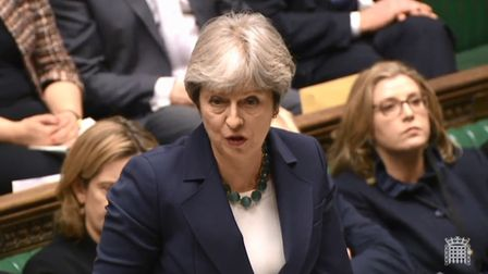 Theresa May in the House of Commons earlier this year. Picture: Parliament Live TV