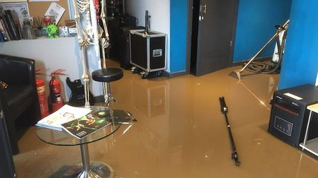 SoundView Studios, flooded with raw sewage. Picture: Carl Dawson