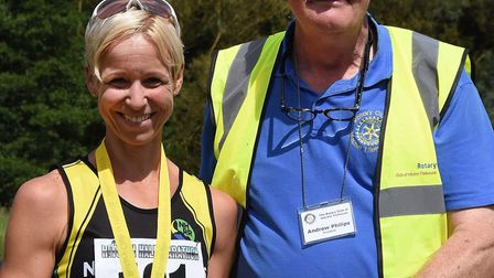 Astrid Mckeown of North Herts Road Runners was the first female to cross the line in the Hitchin Har