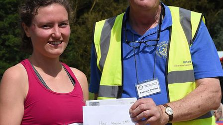 Leah Kenny was the second woman to complete the Hitchin Hard Half. Picture: Alan Millard