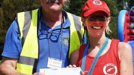 Anna Fake of Hitchin Running Club was the first female to finish in Hitchin's 'Tough 10k'. Picture:
