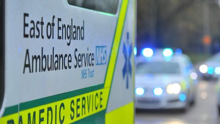 A man was taken to hospital with a head injury after falling on a bus in Stevenage. File photo. Pict