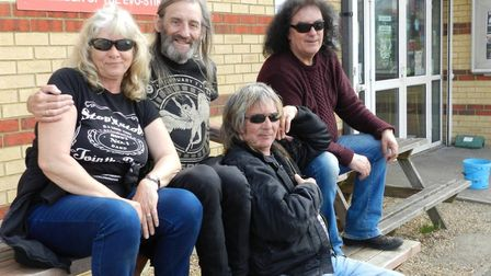 Gazz Henderson, second from right, also organised Rock against Cancer in 2016 with his wife Marion H
