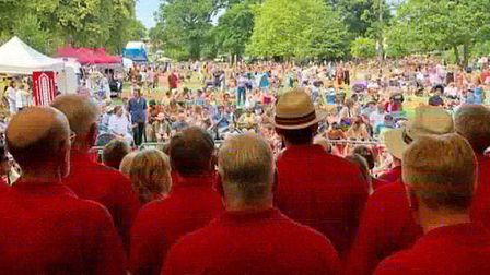 The City Chorus Choir performed at Park Live. Picture: Ray Cordell