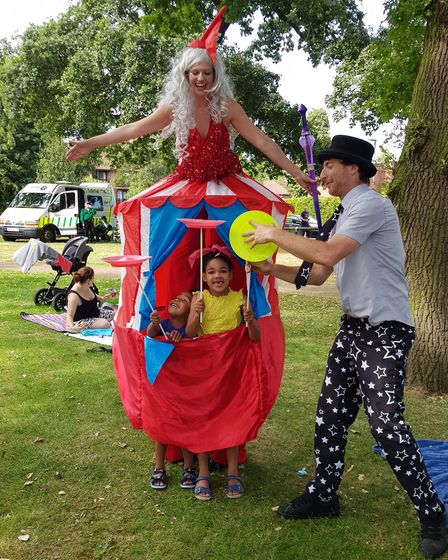 Families came along to Park Live at the weekend, to round off another year of Letchworth Festival. P