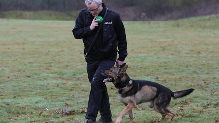 PC Dave Wardell with PD Finn. Picture: Danny Loo