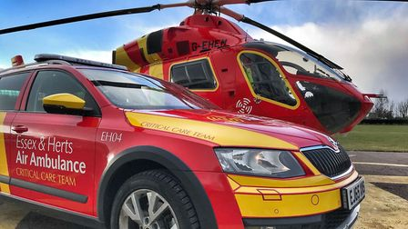 Last year around one in 11 of the Essex and Herts Air Ambulance Trust's life-saving missions was fun