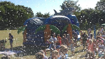 Disco dancing in the foam was one of the many things happening at Lordship Farm Primary School on Sa