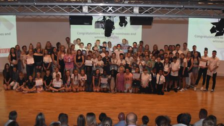 The Stevenage Sporting Futures Annual Awards winners at The Nobel School. Picture: Stevenage Sportin