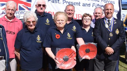 Members of the Royal British Legion turned attended Letchworth's day of festvities. Picture: Alan Mi