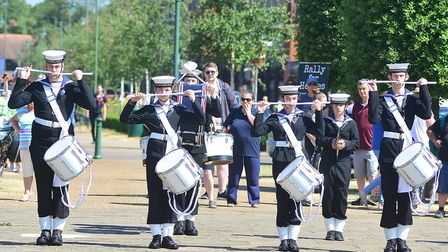 The Biggleswade Sea Cadets band perforrmed at the Letchworth festivites. Picture: Alan Millard