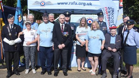 Members from the Royal Air Forces Association had a stall at Armed Forces Day in Letchworth. Picture