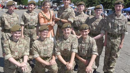Letchworth Army Cadets were the winners of the cadets competition at Armed Forces Day on Saturday. P