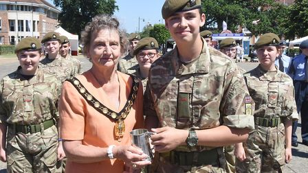 Armed Forces Day 2018: Letchworth Army Cadets were the winners of the cadets competition. Jacob Cox