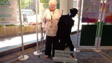 Councillor Joan Lloyd supported the raising of the flag at the Stevenage council offices on Monday.