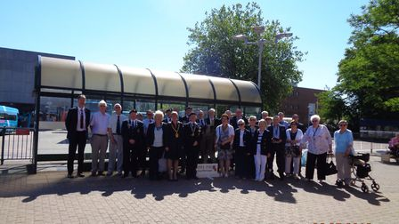 The Stevenage branch of the Royal British Legion began its Armed Forces Day celebration with a flag