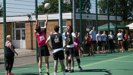 Action from the final of the Response Personnel Cup. Picture: CALLUM ALLCOCK-GREEN