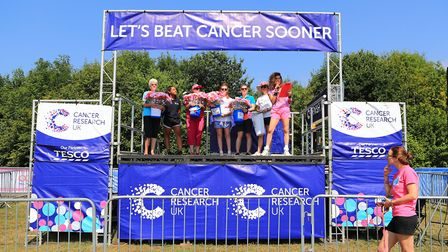 Cancer Research, Ware and Herts area, having raised thousands in the Stevenage Race for Life 2018. P