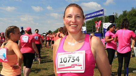 First time runner, Julia in the Stevenage Race for Life 2018. Picture: KEVIN RICHARDS