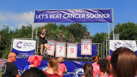 Total being raised in the Stevenage Race for Life 2018. Picture: KEVIN RICHARDS