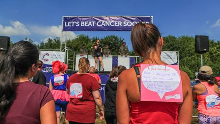 Messages for loved ones in the Stevenage Race for Life 2018. Picture: KEVIN RICHARDS