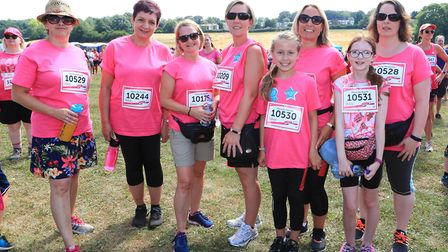 Running for Donna, Merry-Go-Round, Baldock, take part in the Stevenage Race for Life 2018. Picture: