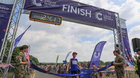 First back is Daniel in 24 minutes in the Stevenage Race for Life 2018. Picture: KEVIN RICHARDS
