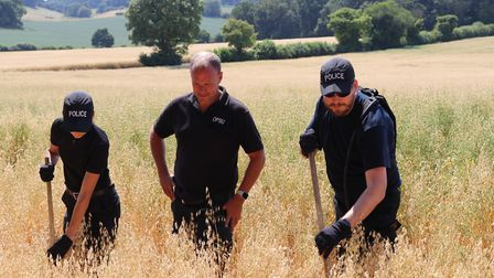 Searching for missing William Taylor near Gosmore. Picture: Herts police