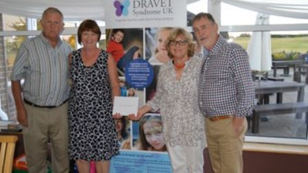The charity golf day winning team, David & Fiona Holden (left) and Mary & Ray Burroughs. Picture: Ch