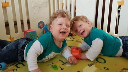Raphael and Leonard Chialva have a number of chronic conditions. Picture courtesy of JustGiving.