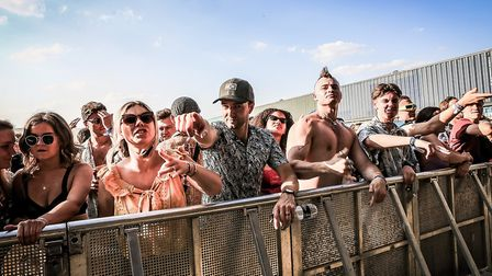 Festival goers at The Factory at Farr Festival 2018. Picture: KEVIN RICHARDS