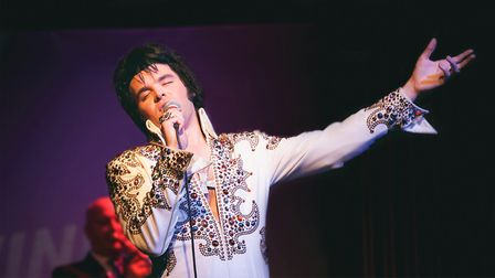 Hitchin's JD King as Elvis. Picture: JD King