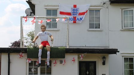 The Holwell Scarecrow Festival brought some more World Cup spirit. Picture: Nigel Eaton