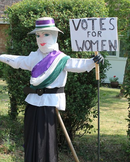 The variety of scarecrows ranged from pop stars to suffragettes. Picture: Nigel Eaton
